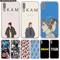 WEBBEDEPP SKAM Hard Transparent Cover Case for iPhone 8 Plus 7 Plus 6 6s Plus X/10 5 5S SE 5C 4 4S
