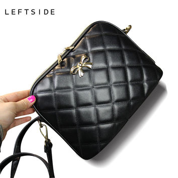 New 2017 Black Bow Plaid Fashion Women CrossBody Bag Female Shoulder Bags Party Purse clutch Small Bag Women Messenger Bags