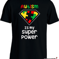 Funny Autism Awareness Shirt Autistic Superhero T Shirt Gifts For Kids Youth Mens Tee