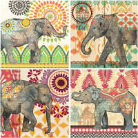 Caravan Elephants Wall Art