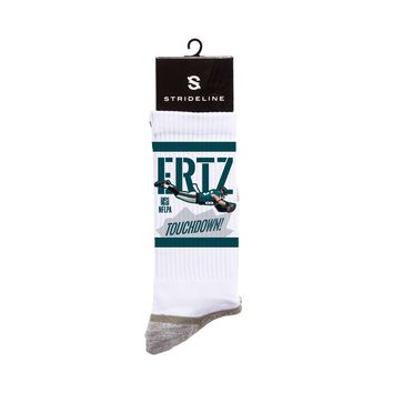 NFLPA Strideline Zach Ertz Touchdown White Crew Socks
