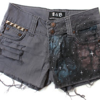 Etsy Transaction -        RESERVED for kmp24 - galaxy cut off shorts - grey