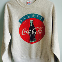 vintage always coca cola crewneck sweater / large