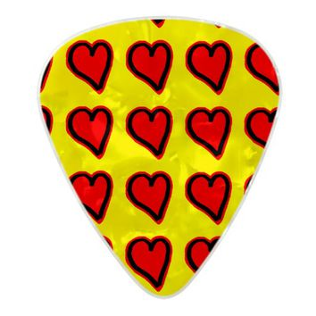 Hearts Guitar Pick Pearl Celluloid Guitar Pick