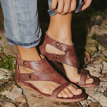 2018 Womens Summer Sandals Slippers Leather Shoes Outdoor Beach Slippers Soft Bottom Breathable size 4-11