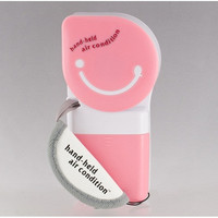 Mini Plastic Portable Hand-held Air Condition Fan (Pink)