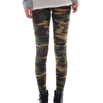 Lady Sexy Camouflage Skinny Elastic Leggings Tights Stretchy Multicolor Free size = 1705653828