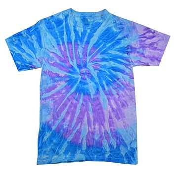 Tie Dye Multi Color Spiral Lavender Blue Kids T-Shirt