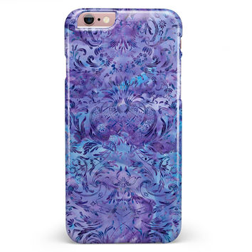 Purple Damask v2 Watercolor Pattern V2 iPhone 6/6s or 6/6s Plus INK-Fuzed Case