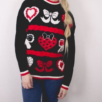 Vintage Bows Ugly Christmas Sweater