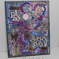 Play Everyday 8 X 10 inch Mixed Media Canvas Board. Ready to Ship