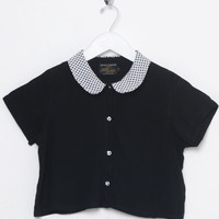 Motel Vintage Andy Crop Blouse 0006