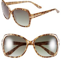 Elie Tahari 57mm Butterfly Sunglasses