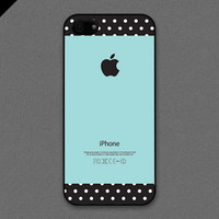 iPhone 5 case - Tiffany Teal and Dots Pattern cases - also available in iPhone 4 and iPhone 4S size