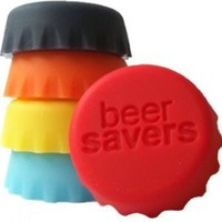 Beer Saver Reusable Silicone Bottle Caps - Set of 6