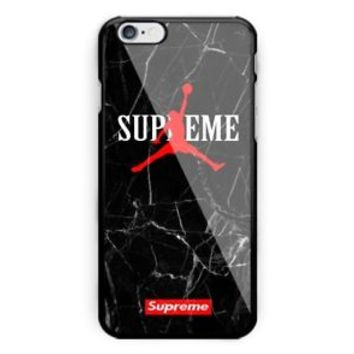 Hot Air Jordan Logo Supreme Marble Fit Hard Case For iPhone 7 8 Plus X Cover +