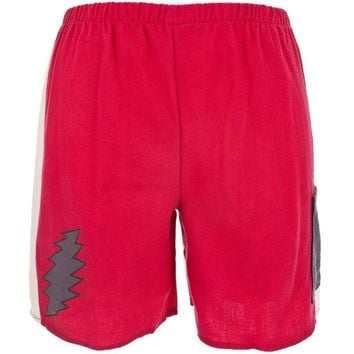 DCCK8UT Grateful Dead Lightning Bolt Red Juvy Shorts