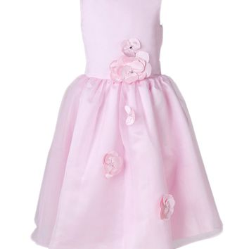 Dressystar Long Pink Flower Girl Dress Layered Communion Pageant Dress Size 2 to 14