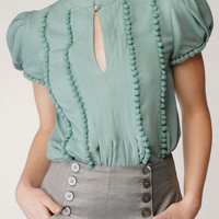 Crepe Georgette Top - Nicole Miller Official Store - Stylehive