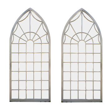 Pair of Gothic-style Arched Windows