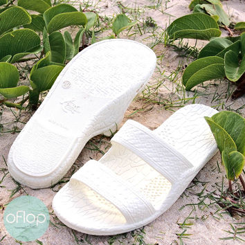 White Jandals -- Pali Hawaii Classic Sandals