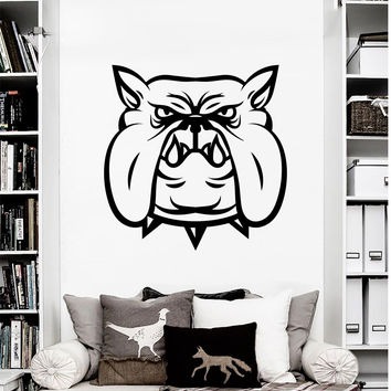 Wall Decal Dog Evil Bulldog Sports Mascot Animals Design Wall Decals Gym Sports Hall Bedroom Living Room Vinyl Stickers Home Decor 3879