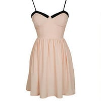 Solid Corset Dress - Blush