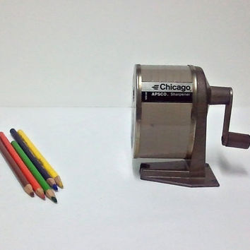 Retro Pencil Sharpener  Berol Chicago Apsco by ItchforKitsch