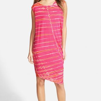 Women's Young, Fabulous & Broke 'Jana' Side Drape Stripe Midi Dress