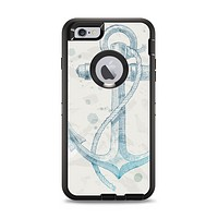 The Vintage White and Blue Anchor Illustration Apple iPhone 6 Plus Otterbox Defender Case Skin Set