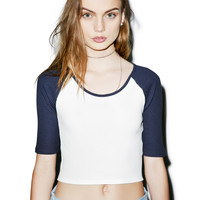 Mink Pink Game On Crop Top White/Navy
