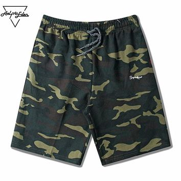 High Quality Camouflage Shorts Men Military Shorts Simple Loose Casual Shorts Mens Elastic Fitness Short Pants