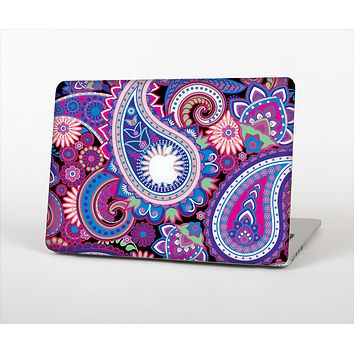 "The Vibrant Purple Paisley V5 Skin Set for the Apple MacBook Pro 13"" with Retina Display"