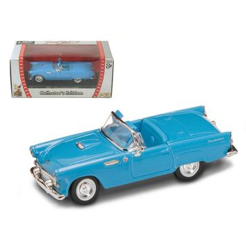 1955 Ford Thunderbird Blue 1-43 Diecast Model Car by Road Signature