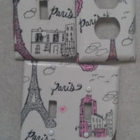 Eiffel Tower Paris Glittery Switch and Wall Plates