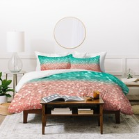 Lisa Argyropoulos Coral Meets Sea Duvet Cover