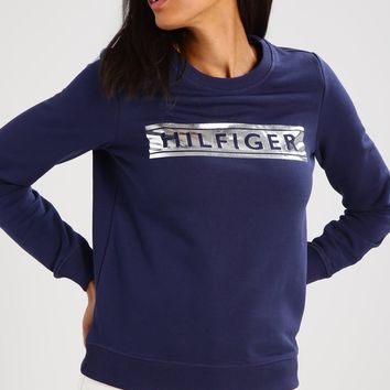 Tommy Hilfiger Women Casual Long Sleeve Top Sweater Pullover Sweatshirt