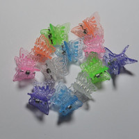 Butterfly Clips Hair Neon Mini Seapunk Cyber Princess 90s Small Hair Clips butterflies Neon Colors Millennium Rainbow Hair Accessories