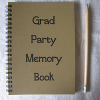 Grad Party Memory Book - 5 x 7 journal