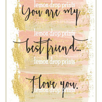 Best friend printable best friend art print download just because gifts bedroom wall art bff birthday gift husband art gift wife art gift