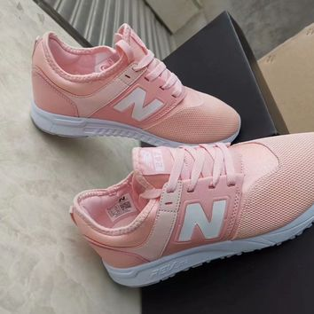 """""""New Balance 247"""" Women Casual Fashion N Words Sneakers Running Shoes"""