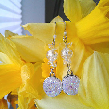 Sailor Moon Earrings - Princess Serenity - Czech Glass, Fairy Kei, Moon Princess