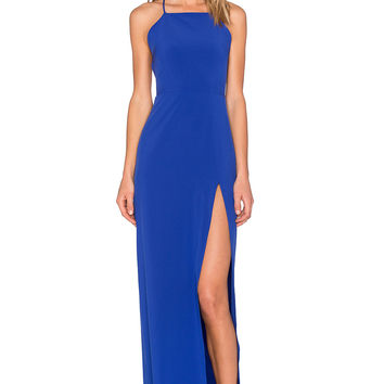 Donna Mizani Square Neck Gown in Lapis