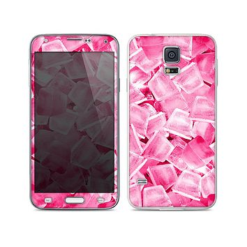 The Hot Pink Ice Cubes Skin For the Samsung Galaxy S5