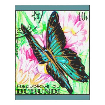 Butterfly Papilio Bromius Wood Print