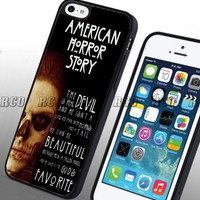 RCO - American Horror Story Quotes Custom Case for Iphone 4 4s 5 5c 6 6plus (iphone 5 black)