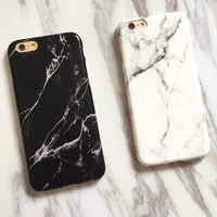 Marble Stone image Painted Cover For iphone 7 8 X 6 6S Plus + Free Gift Box