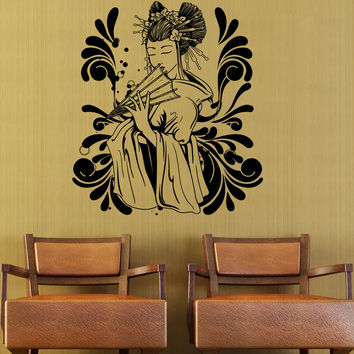 Vinyl Wall Decal Sticker Japanese Geisha Design #1366
