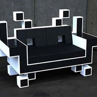 space invader's couch
