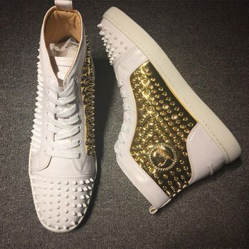 Cl Christian Louboutin Louis Spikes Style #1834 Sneakers Fashion Shoes